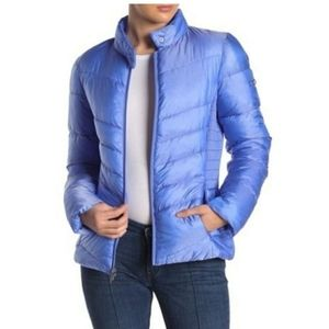 Via Spiga Smocked Quilted Puffer Jac